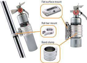 extinguisher fire round mount bar roll tube jeep flat surfaces clamp lb fits band jk others fe desertrat additional