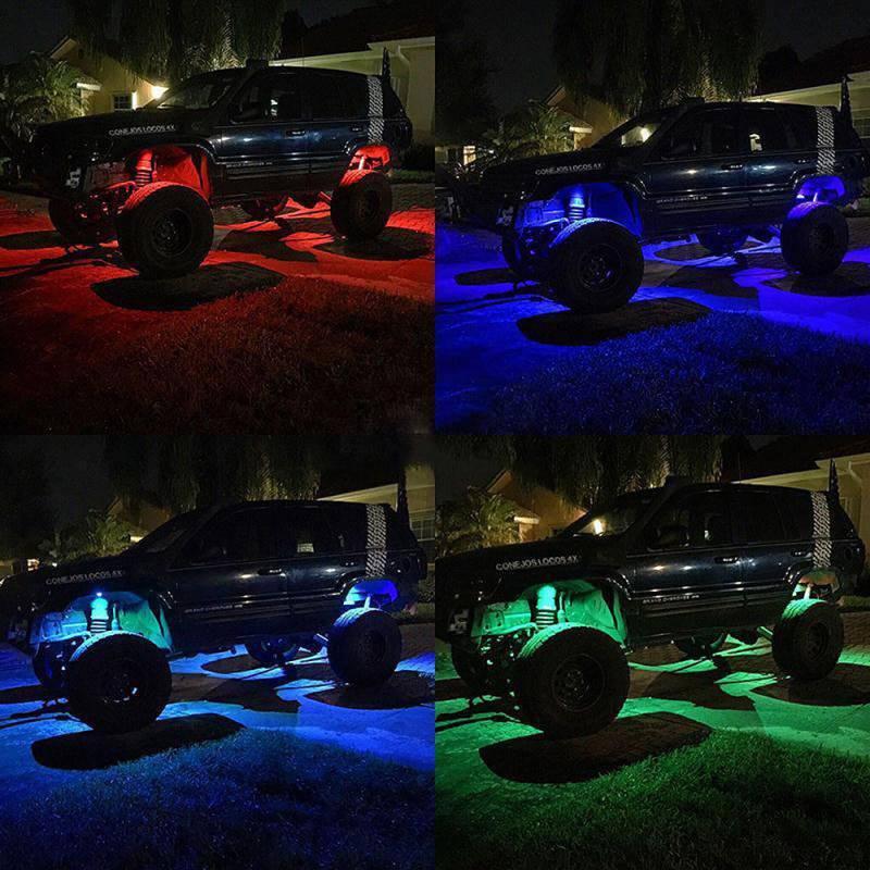 Night Stalker Led Color Controller For 8 Rock Light Sets