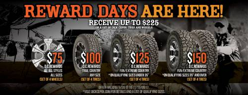 Dick Cepek Reward Days Rebate - Dick Cepek Tire & Wheel Package Rebate