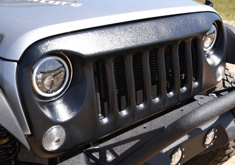 Angry Eyes Grill Black For Jeep Wrangler 2007 2017