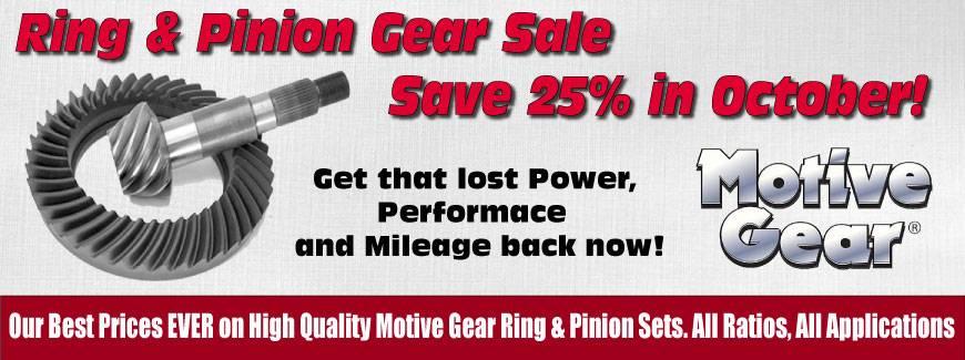 Motive Gear October 2018 Sale