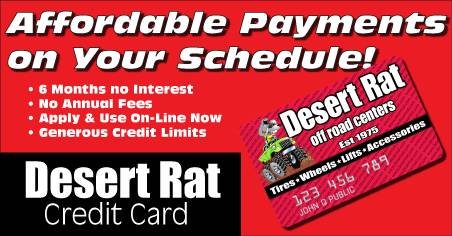 Desert Rat Credit Card