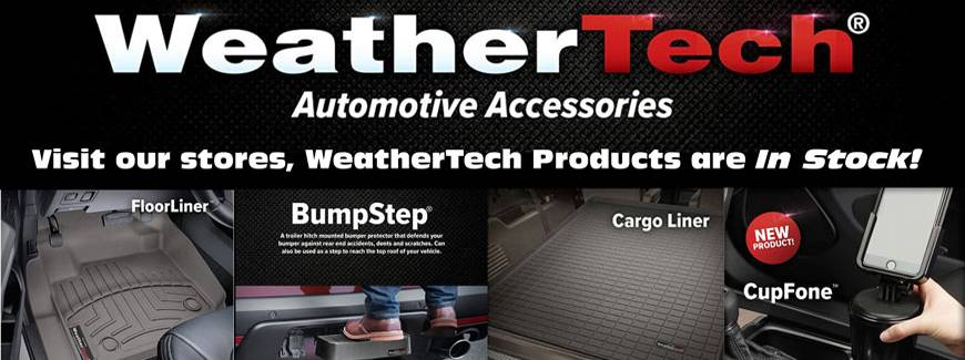 Weathertech Products Banner