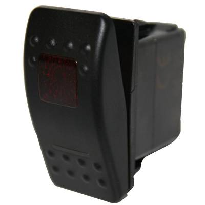 Bulldog Winch - Rocker Switch-ON/OFF 5-Pin Red