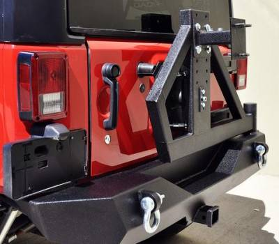 DV8 Offroad - Single Action Rear Bumper and Tire Carrier w/ Bearing