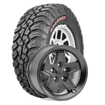 General Tire - LT265/70R17  General Grabber X3 SRL on AEV Pintler Onyx Wheels