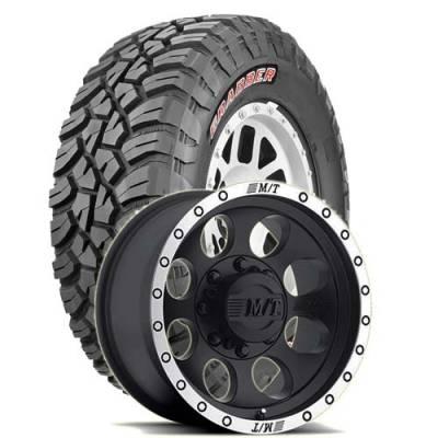 General Tire - 33X12.50R17  General Grabber X3 SRL on M/T Classic Baja Lock Wheels