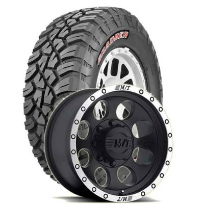 General Tire - 35X12.50R17  General Grabber X3 SRL on M/T Classic Baja Lock Wheels