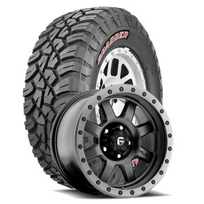 General Tire - 33X12.50R18  General Grabber X3 SRL on Fuel Trophy 551 Black Wheels