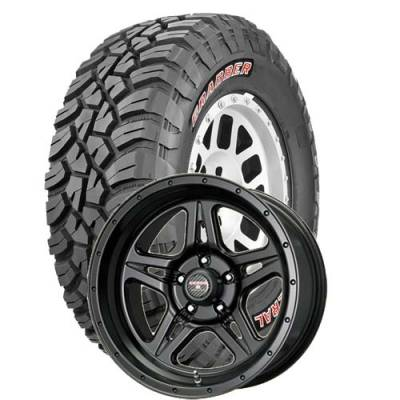 General Tire - 35X12.50R17  General Grabber X3 SRL on Moab STR Black Wheels