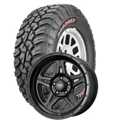 General Tire - 33X12.50R18  General Grabber X3 SRL on Moab STR Black Wheels