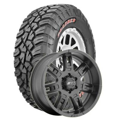 General Tire - LT255/75R17  General Grabber X3 BSW on M/T Sidebiter II Wheels
