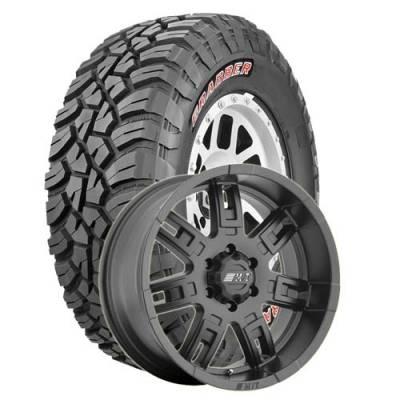 General Tire - 35X12.50R17  General Grabber X3 SRL on M/T Sidebiter II Wheels