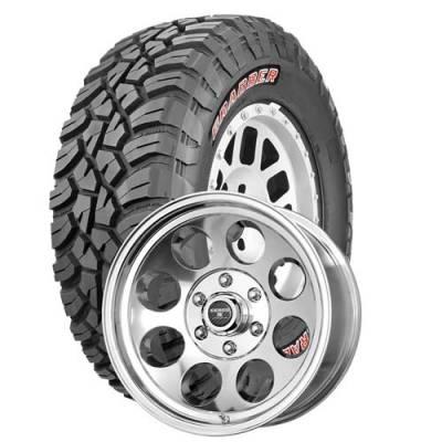General Tire - 33X12.50R18  General Grabber X3 SRL on Tracker II Polished Wheels