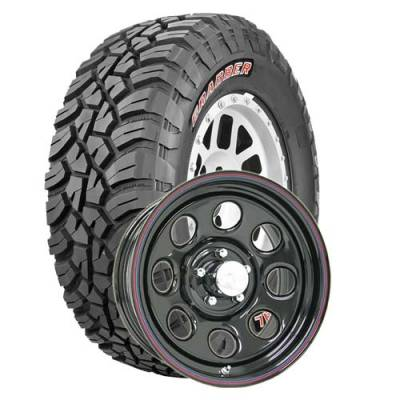 General Tire - LT285/75R16  General Grabber X3 BSW on US Steel Mountain Crawler Wheels