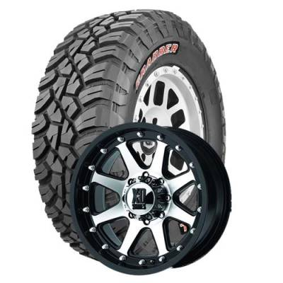 General Tire - LT295/70R17  General Grabber X3 SRL on XD Addict Black/Machined Wheels