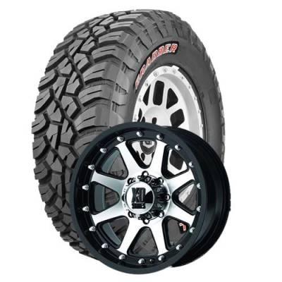 General Tire - 33X12.50R20  General Grabber X3 BSW on XD Addict Black/Machined Wheels