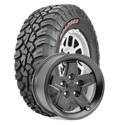 General Tire - LT285/70R17  General Grabber X3 SRL on AEV Pintler Onyx Wheels