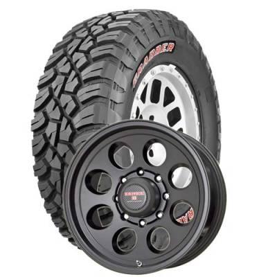 General Tire - LT265/75R16  General Grabber X3 SRL on Tracker II Black Wheels