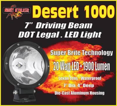 """Night Stalker Lighting - Night Stalker Desert 1000 - 7"""" LED Driving Light - DOT Legal"""