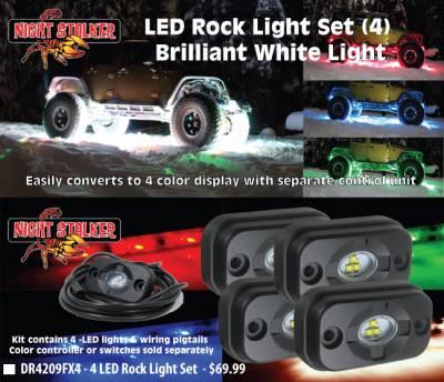 Night Stalker Lighting - Night Stalker Multi Color Rock Light Set