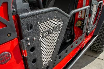 DV8 Offroad - JEEP JL ROCK DOOR W/ PERFORATED ALUMINUM MESH 18-PRESENT WRANGLER JL 4 DOOR  (Set of 4)
