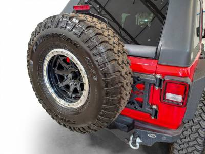 DV8 Offroad - Jeep JL HD Easy Open Hinge Replacement Spare Tire Carrier