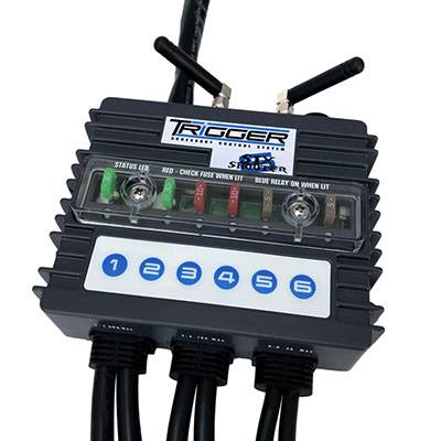 Trigger Bluetooth Switch - Trigger Six-Shooter Bluetooth/RF Wireless Accessory Control Unit - 6 Circuit