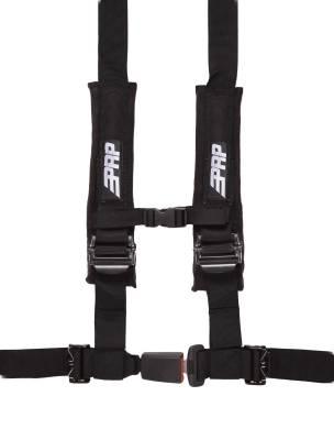 """PRP Safety - PRP 4.2 Harness Safety Belt - Black 2"""", 4 Point Assembly"""
