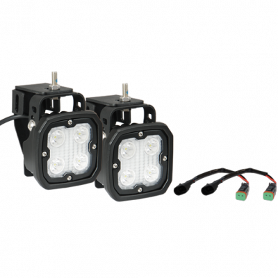 Vision X Lighting - VISION X 1999-2016 FORD SUPERDUTY FOG LIGHT UPGRADE KIT WITH DURA-410 LIGHTS AND HARNESS