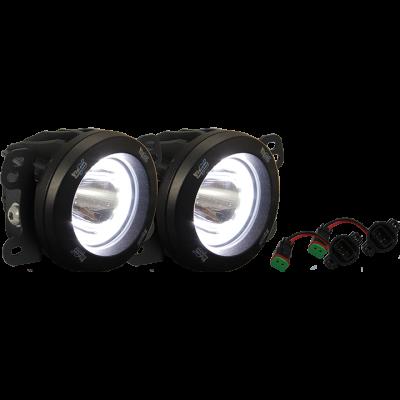 Vision X Lighting - VISION X 18+ JEEP JL METAL BUMPER FACTORY UPGRADE BRACKET KIT WITH CG2-CPM310 LIGHTS