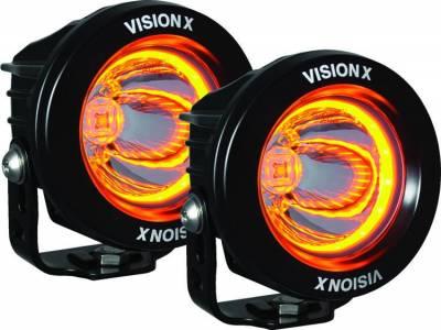 Vision X Lighting - VISION X OPTIMUS ROUND HALO BLACK 1 10W LED 2 LIGHT KIT