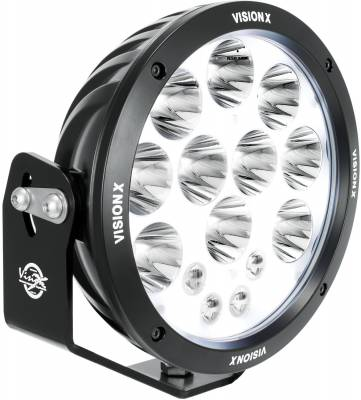 "Vision X Lighting - VISION X SINGLE 6.7"" CANNON ADVENTURE HALO 8 LED LIGHT MIXED BEAM"