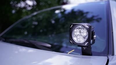 """Vision X Lighting - VISION X PAIR OF 3.0"""" SQUARE 3 LED CANNON CG2 LIGHTS INCLUDING HARNESS"""