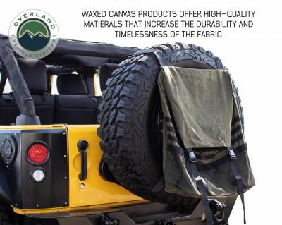 Overland Vehicle Systems - Extra Large Trash Bag Tire Mount - #16 Waxed Canvas