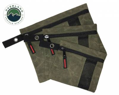 Overland Vehicle Systems - Small Bags - 3 Individual  #12 Waxed Canvas
