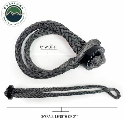 """Overland Vehicle Systems - Soft Shackle 5/8"""" 44,500 lb. With Collar - 22"""" With Storage Bag"""