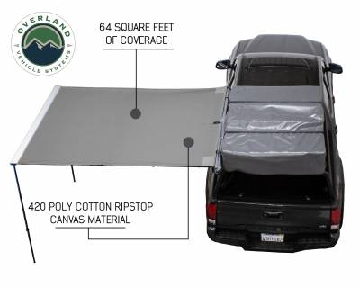 Overland Vehicle Systems - Nomadic Awning 2.0 - 6.5' with Black Cover Universal - 18049909 OVS