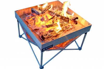Fireside Outdoor - Fireside Outdoor Pop-Up Fire Pit & Heat Shield Combo