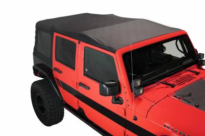 King 4WD - King 4WD Premium Replacement Soft Top, Black Diamond With Tinted Windows, Jeep Wrangler Unlimited JK 4 Door 2010-2018