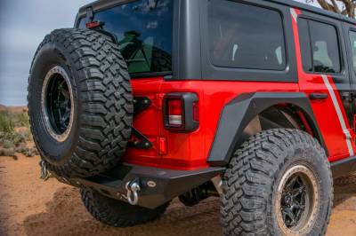 DV8 Offroad - TAILGATE MOUNTED TIRE CARRIER  WRANGLER JL 2018+ - Image 1