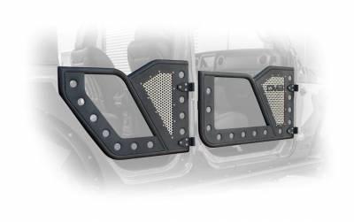 DV8 Offroad - JEEP JL ROCK DOOR W/ PERFORATED ALUMINUM MESH 18-PRESENT WRANGLER JL 4 DOOR  (Set of 4) - Image 3