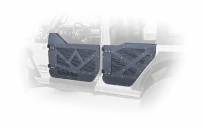 DV8 Offroad - JEEP JL HALF DOORS ALUMINUM W/PERFORATED ALUMINUM SCREENS 18-PRESENT WRANGLER JL 4 DOOR  (Set of 4) - Image 4