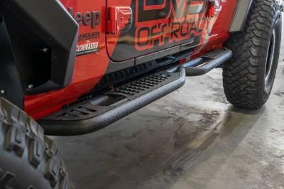 DV8 Offroad - Jeep JL Tubular Side Step/ Slider 2018+  (4 Door Only) SRJL-02 - Image 3