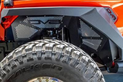 DV8 Offroad - Aluminum Inner Fender Front Pair Jeep JL 2018+ Black - Image 1