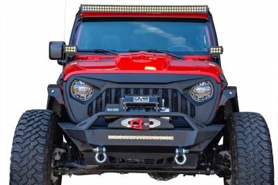 DV8 Offroad - Angry Eyes Grill Black For Jeep Wrangler JL 2018+ - Image 1