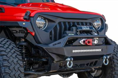 DV8 Offroad - Angry Eyes Grill Black For Jeep Wrangler JL 2018+ - Image 2