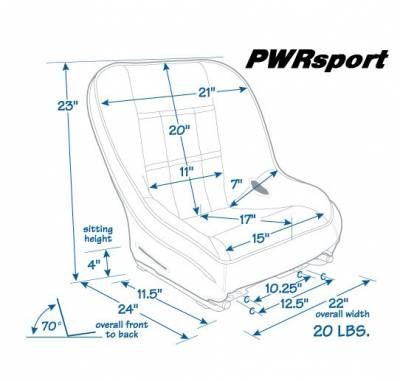 Mastercraft - Mastercraft PWR Sport Low Back Seat - Black - Image 2