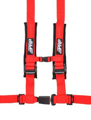"""PRP Safety - PRP 4.2 Harness Safety Belt - Red 2"""", 4 Point Assembly - Image 1"""