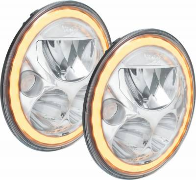 "Vision X Lighting - VISION X 07-17 JEEP JK HEADLIGHTS  - PAIR OF 7"" ROUND VX LED HEADLIGHT W/ LOW-HIGH-HALO - Image 1"